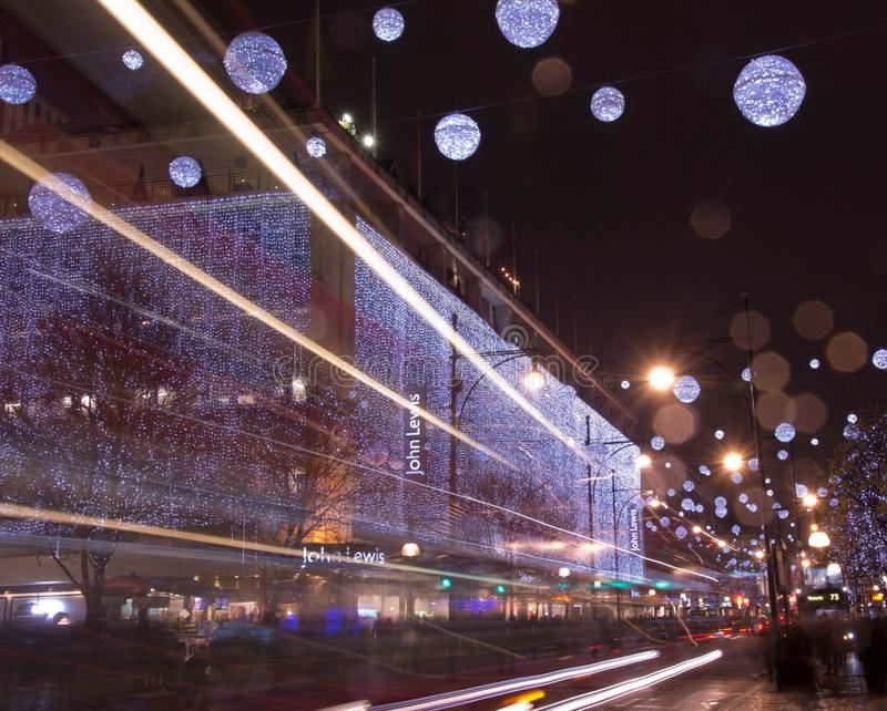 Light streaks stock photography