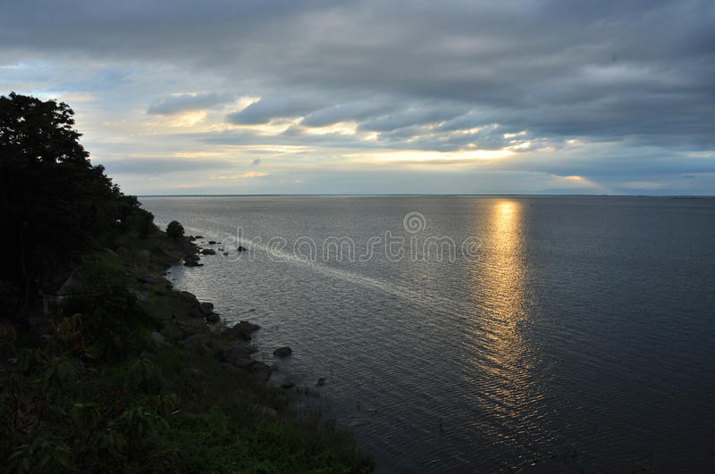 Light sunset on water royalty free stock image