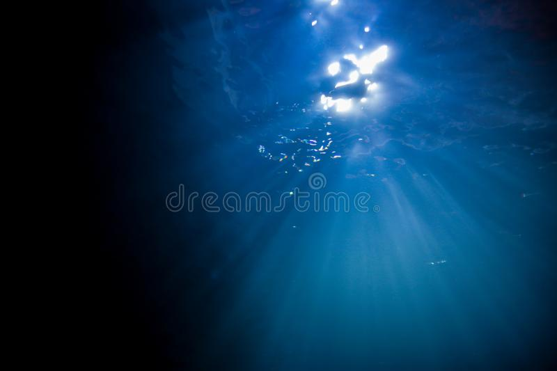 Light, Sunshine underwater stock image
