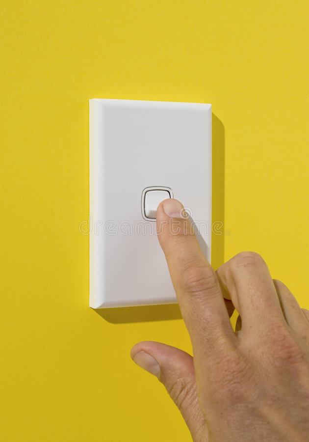 Free Light Switch Being Pushed Royalty Free Stock Images - 5932329