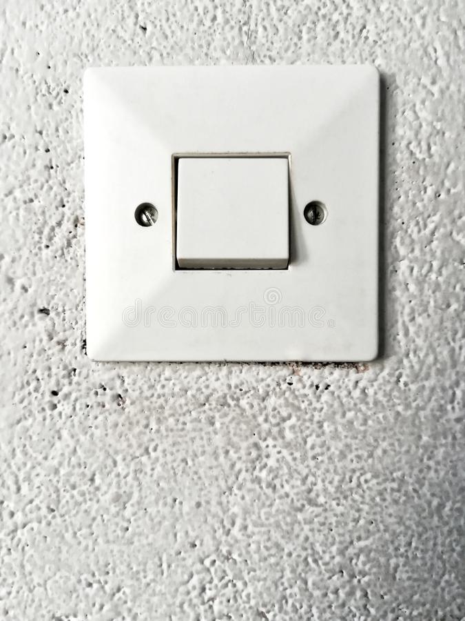 Light switch. Close-up shoot of light switch royalty free stock photos