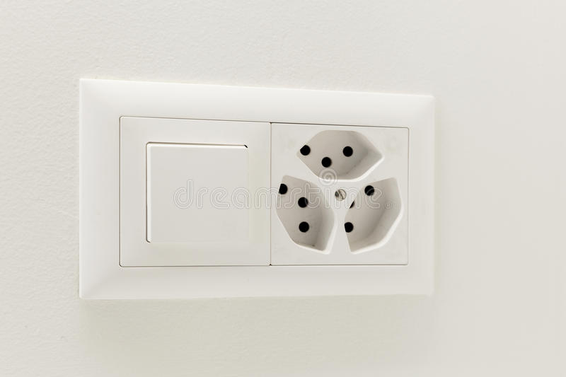 Light Switch And Electrical Outlet Stock Image - Image of voltage ...
