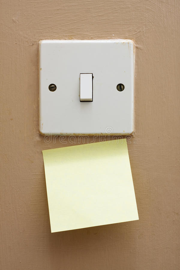 Download Light switch memo stock image. Image of stickie, switch - 25160987