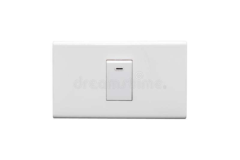 Light Switch. In the Off Position Isolated on White Background stock photos