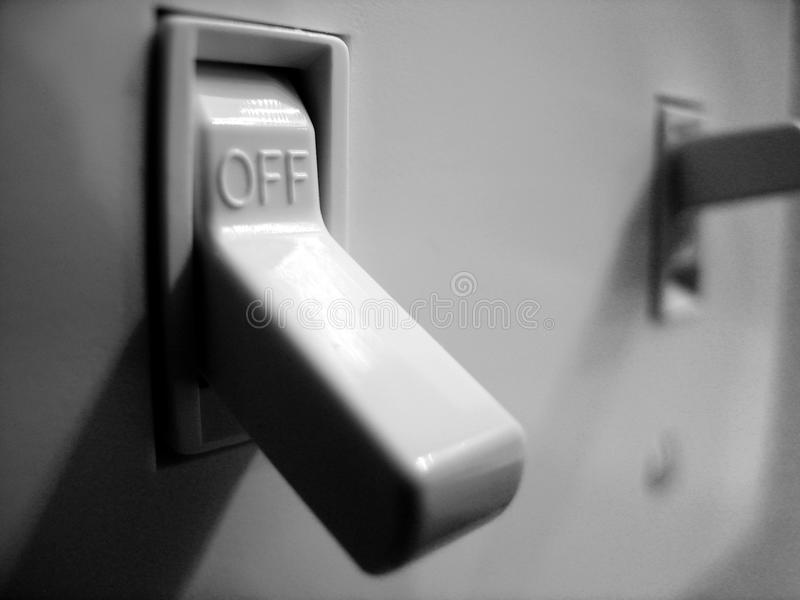 Light Switch for On and Off Power Illumination royalty free stock images