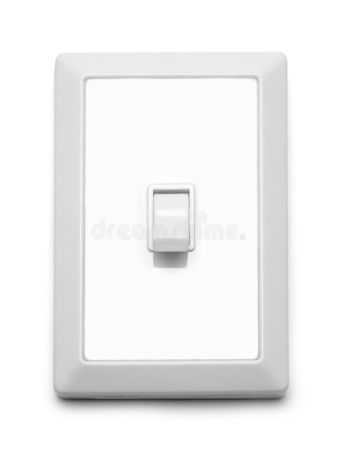 Light Switch Off. Wall Light Switch Off Isolated On White Background royalty free stock image
