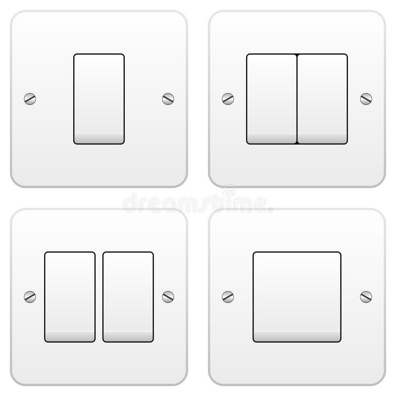 Free Light Switch Set Royalty Free Stock Photography - 22384387