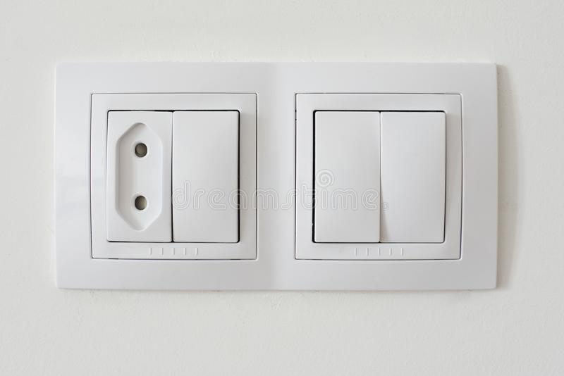 Light switch socket royalty free stock photos