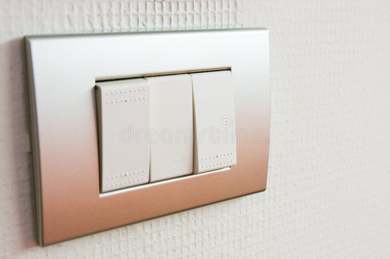 Light switches royalty free stock photography