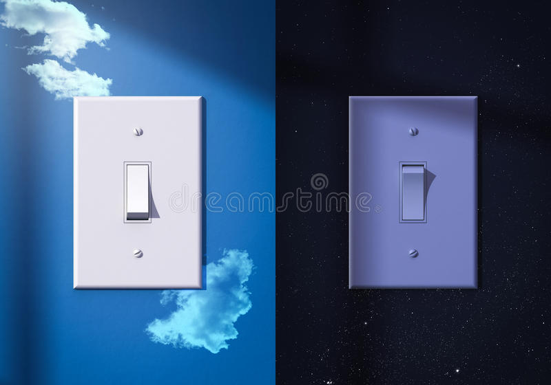 Download Light Switches Turned On And Off Stock Illustration - Image: 35593918