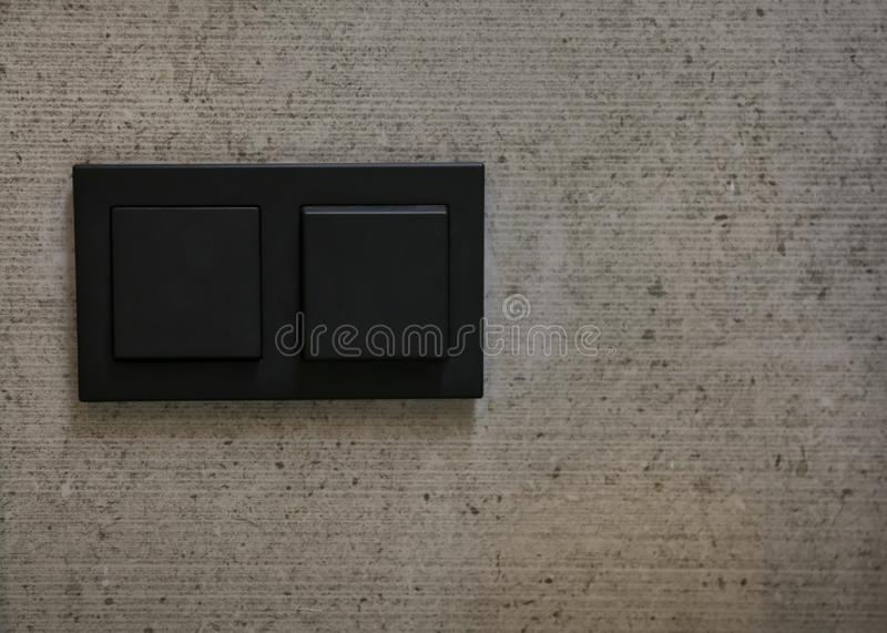 Light switches on wall royalty free stock image