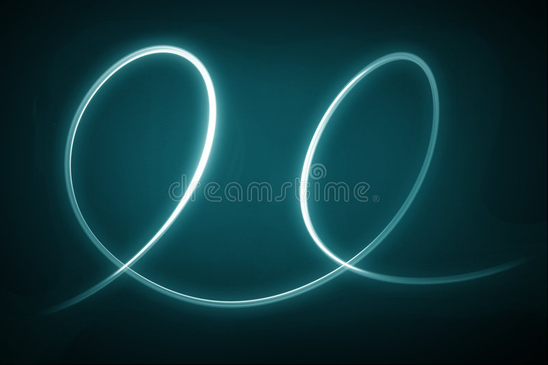 Light Swoosh. Glowing light beam with dark background. See other images for series royalty free stock image
