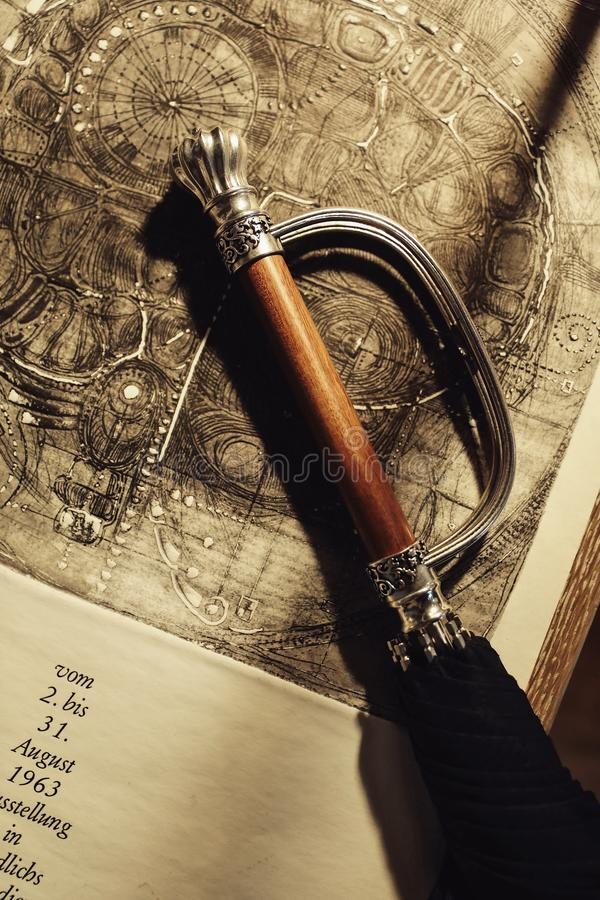 Beautiful evening light. Light and sword royalty free stock images