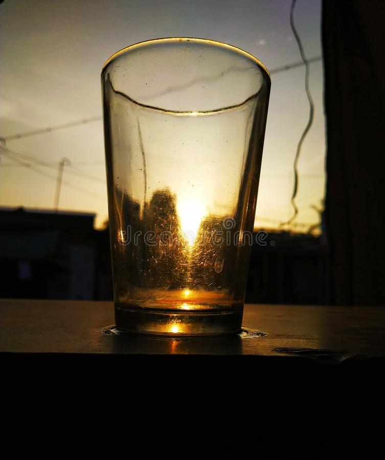 Light + tea. Evening sun set light tea royalty free stock images