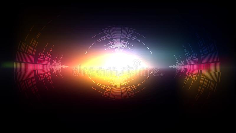 Light tech big bang sound vector illustration