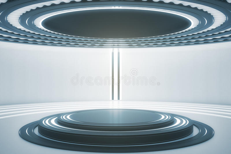 Light teleport station stock illustration