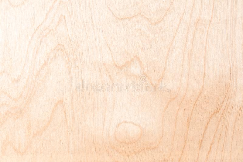 Texture of natural birch plywood, the surface of the lumber is untreated, a lot of fiber and small chips. Light texture of natural birch plywood, the surface of stock image