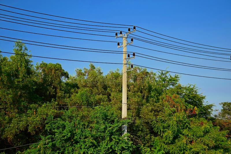 Light towers and electrical royalty free stock photos