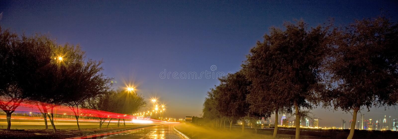 Download Light Trail stock photo. Image of highway, street, rainy - 25898114