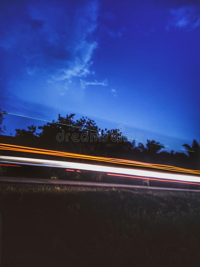 Light trail  outdoor royalty free stock photo