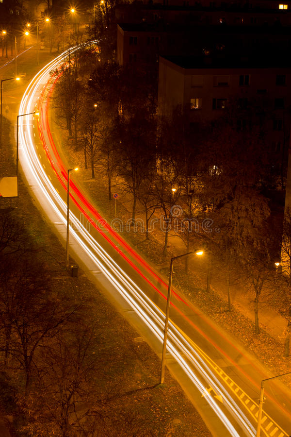 Download Light trail on the road stock photo. Image of curve, lane - 28530700