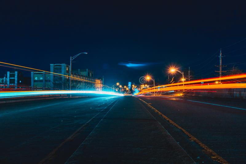 Light Trails On Highway Free Public Domain Cc0 Image