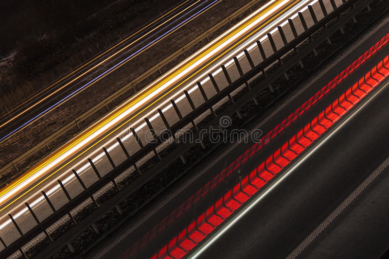 Light Trails On The Street stock images