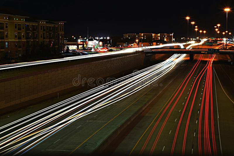 City nights of lubbock royalty free stock images