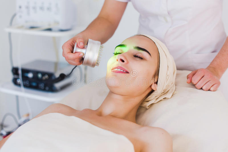 Light treatment in spa clinic royalty free stock image