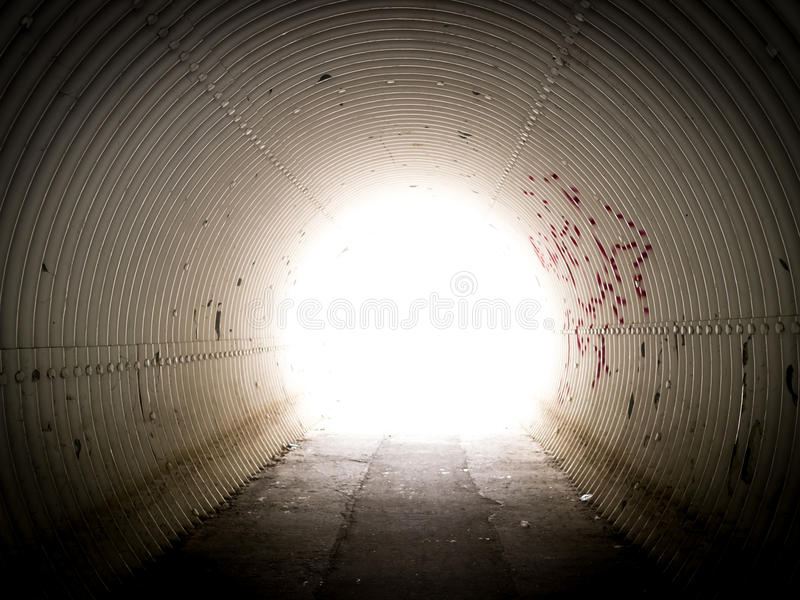 Download Light in tunnel stock image. Image of tube, light, metal - 26084381