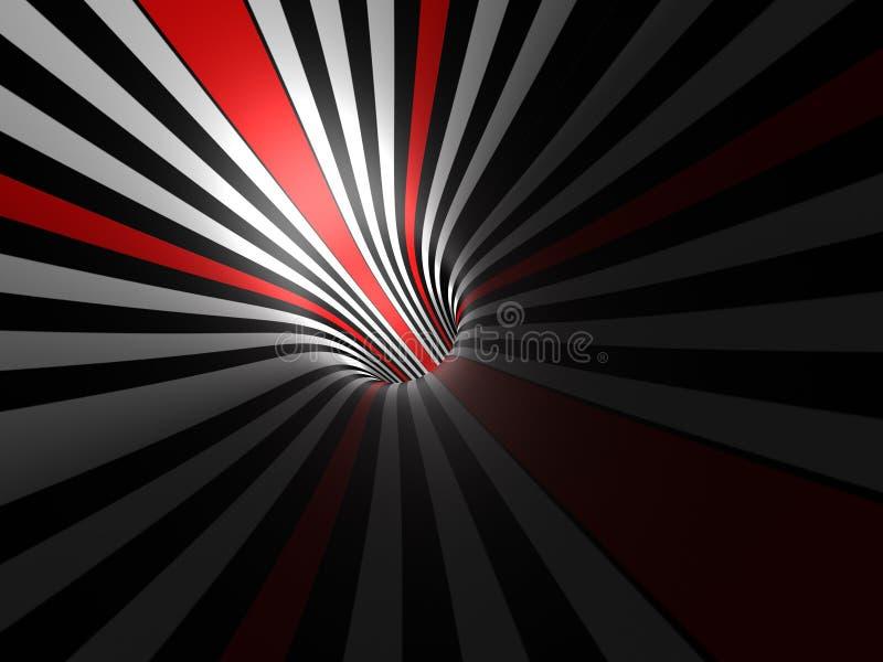 Light in tunnel royalty free illustration