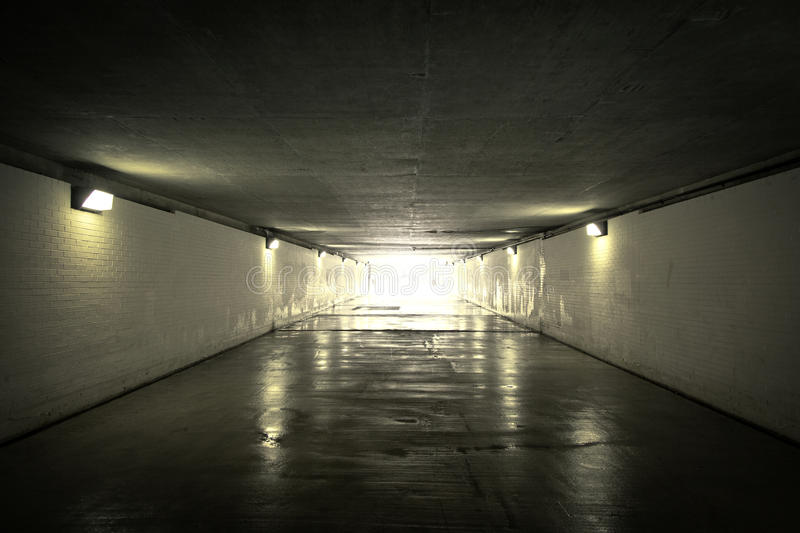 Light in the tunnel royalty free stock photos