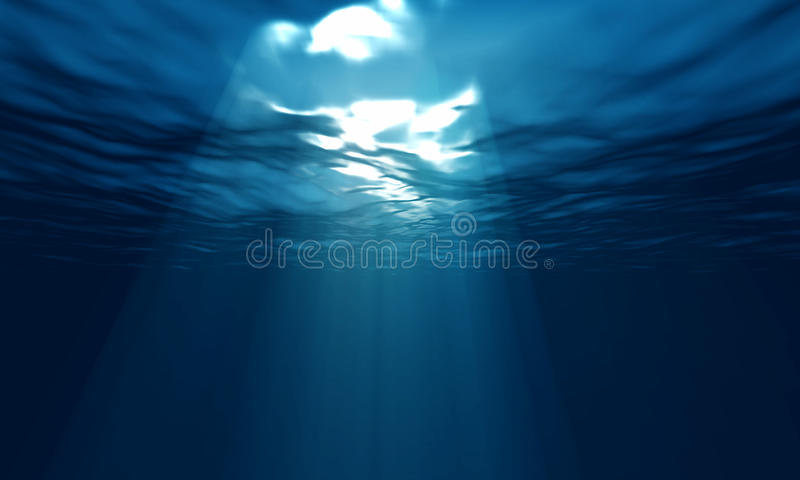 Light underwater royalty free stock photo