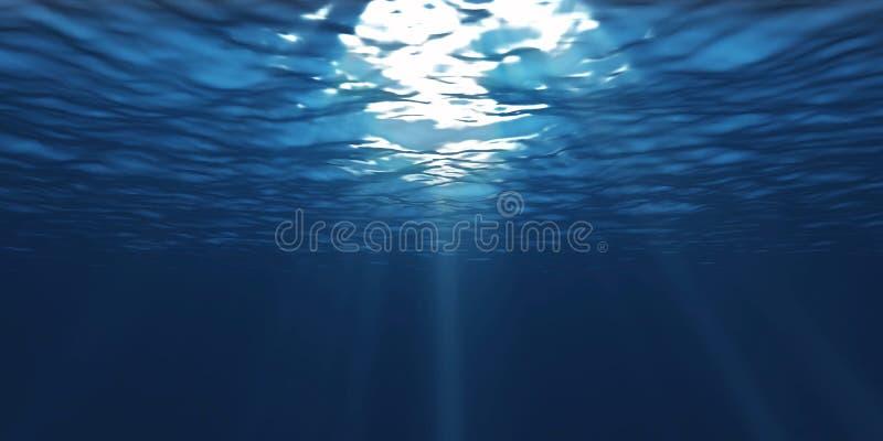 Light underwater stock image