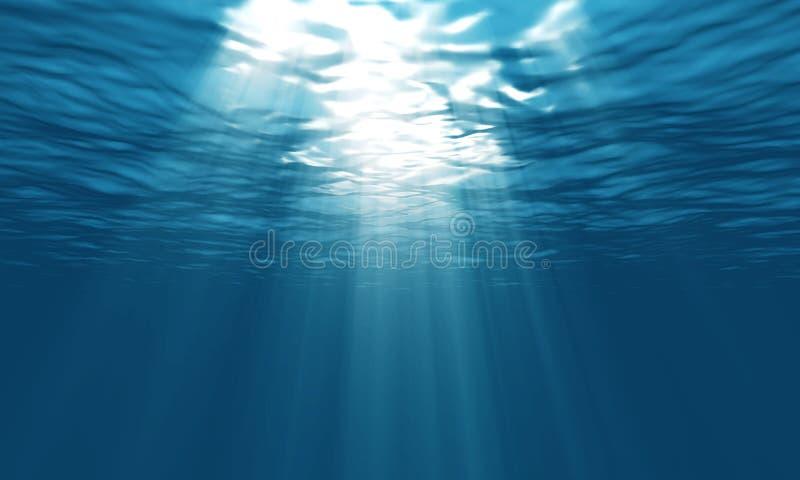 Light underwater vector illustration