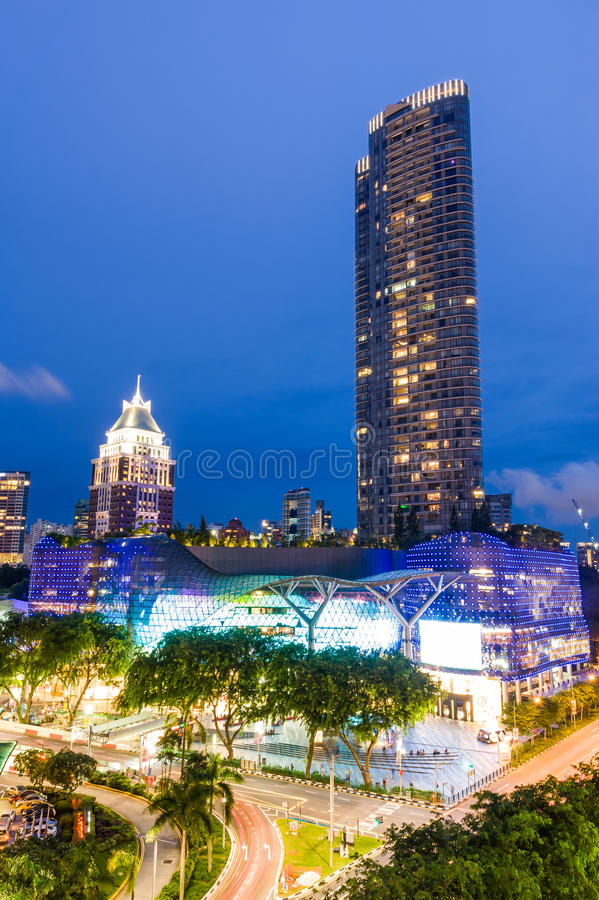 Light up of ION Orchard, Singapore royalty free stock photo