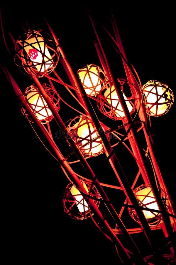 Light up at Nara park in Nara , Japan stock image