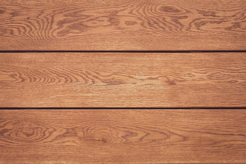 Light wood background. Horizontal lines on wooden table. Vintage rustic pattern for decoration design. Brown planks. Timber floor royalty free stock photography