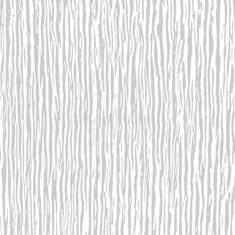Light wood texture background. White and grey wavy chaotic vertical lines texture. Abstract pattern for your design. stock illustration