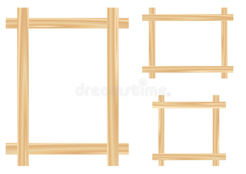 Download Light wooden framework stock vector. Image of detail - 12230119