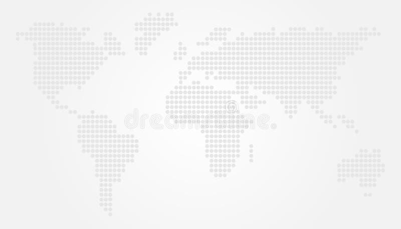Light World Map Vector Illustration Design with Circles. Earth Globe stock illustration