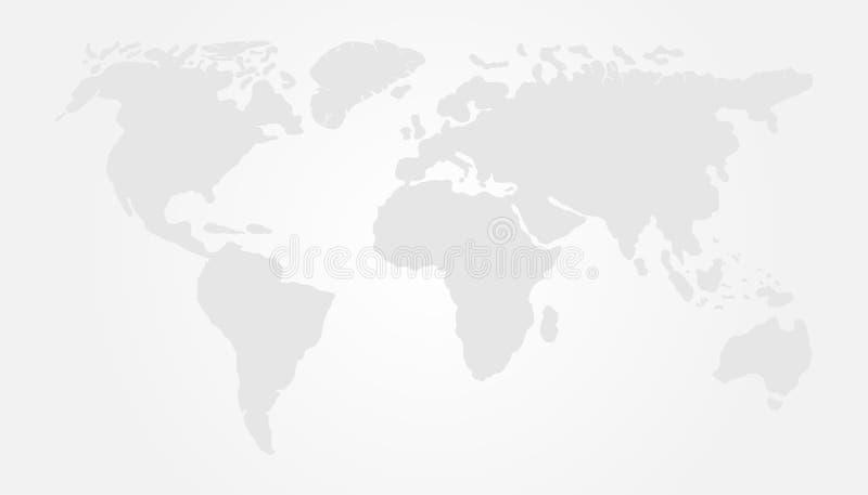 Light World Map Vector Illustration Design. Earth Globe royalty free illustration