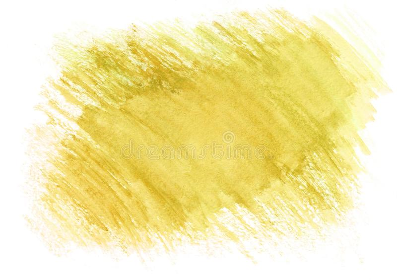 Light yellow dry brush watercolor background. Beautiful abstract background. It`s useful for graphic design, backdrops royalty free illustration