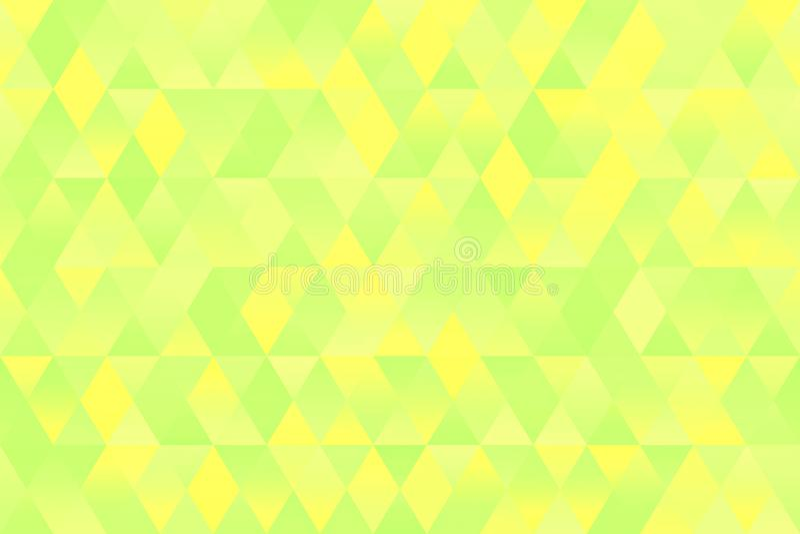 Light Yellow Green Triangle Pattern Seamless Geometric Pastel Spring Rhomb Background vector illustration