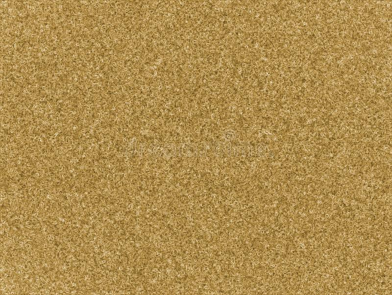 Light yellow natural color of carpet wool seamless texture background. Doodle swirl plastic artificial rug. stock illustration