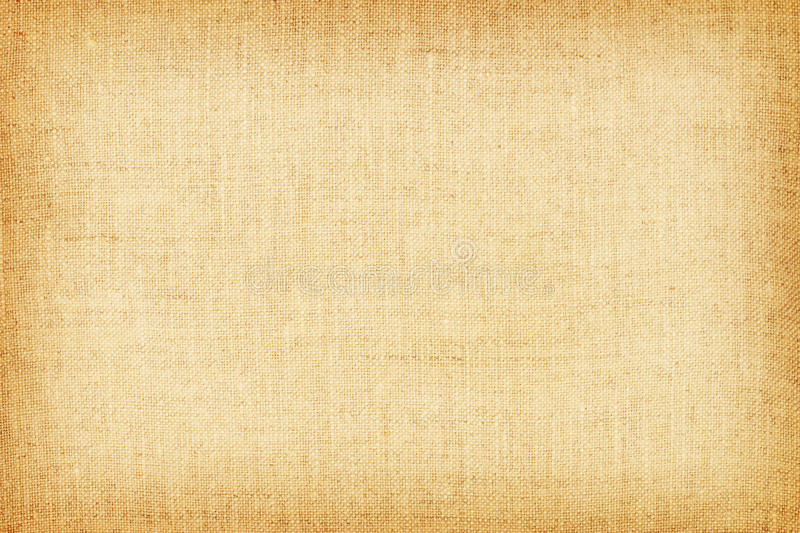 Light yellow natural linen texture for the background stock photography