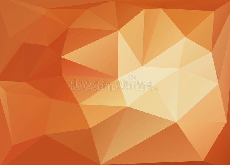 Light Yellow, Orange vector polygon abstract pattern. Geometric illustration in Origami style with gradient. A completely new temp. Late for your business design royalty free illustration