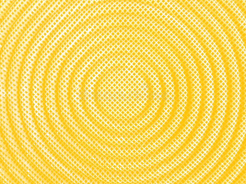 Light yellow stainless steel mesh texture in circle shape background of stove. royalty free stock photography