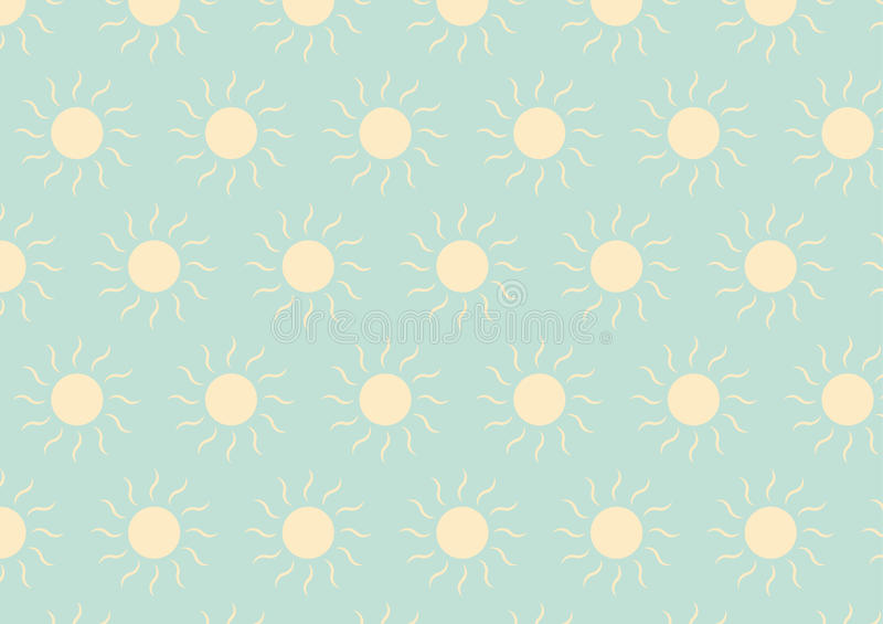 The Light Yellow Sun Pattern On Green Pastel Color Stock Photo
