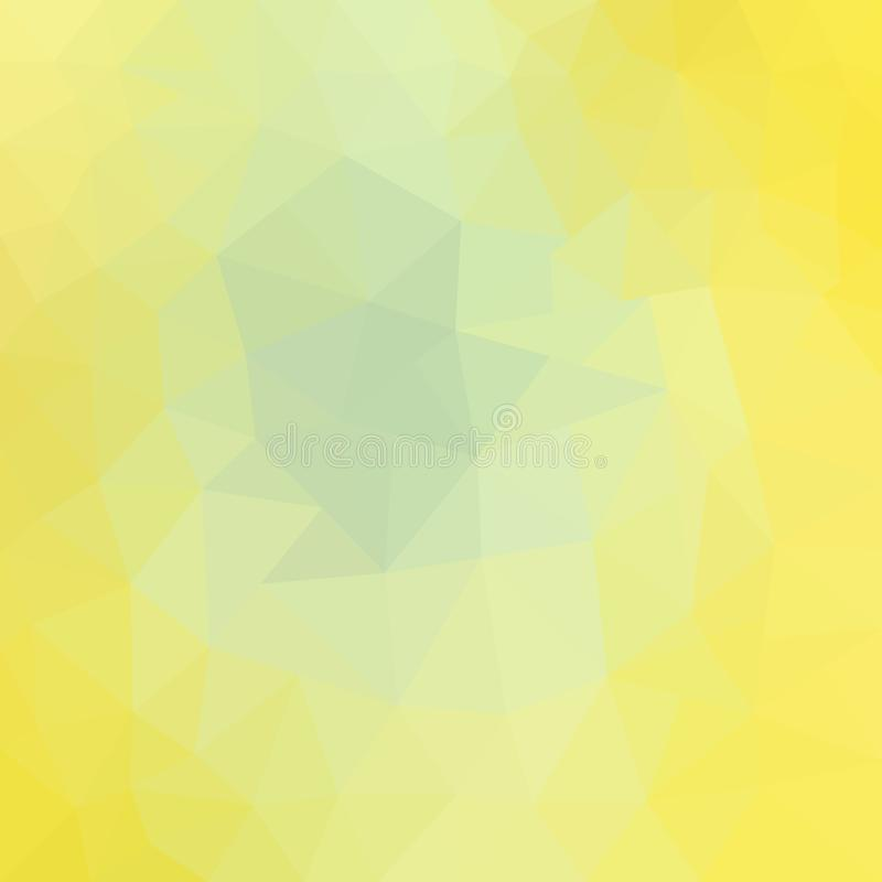 Light Yellow vector abstract textured polygonal background. Blurry triangle design. royalty free illustration